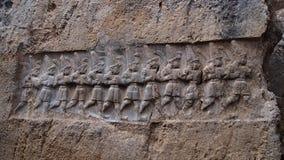 Flachrelief Hittiteruinen, Corum, die Türkei Stockbild