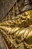 Flachrelief im großartigen Palast, Bangkok Stockfotos