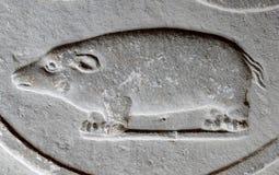 Flachrelief-Meerschweinchen, Verona, Italien stockbilder
