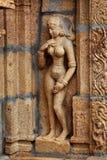 Flachreliefs im hinduistischen Tempel Stockbild