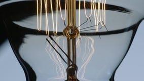 Flackern Edison Lightbulb Filament And Wiring stock footage