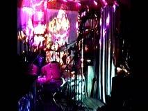 Flackernde Lichter Colorfull im Studio stock video footage