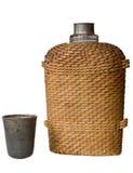 Flacon de brindilles tissées Image libre de droits