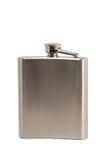 Flacon en métal pour les boissons alcooliques Photographie stock