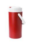 Flacon en plastique rouge photographie stock