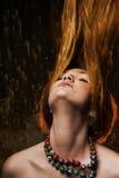 fladdrande hår Royaltyfri Bild