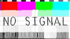 Fladdrandetekniskt felöverföringen, förvridna färgstänger mönstrar inga sig arkivfilmer