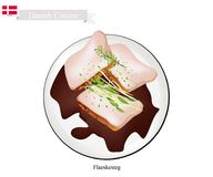 Flaeskesteg or Roasted Pork, The Danish National Dish. Danish Cuisine, Illustration of Flaeskesteg or Traditional Roasted Pork with A Crisp Crackling Rind with Royalty Free Stock Photos