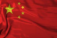 Flaf de la Chine Images libres de droits