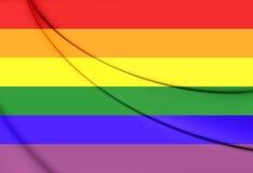 flag голубая гордость Стоковые Фотографии RF
