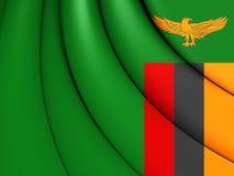 flag Замбия Стоковые Фотографии RF