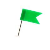 flag зеленый штырь стоковые фотографии rf