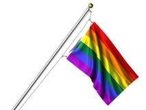 flag изолированная радуга Стоковые Фото