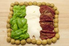 flag итальянка еды свежая Стоковые Изображения RF