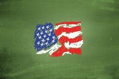 flag мы Стоковая Фотография