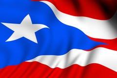 flag представленное puerto rican иллюстрация штока