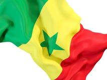 flag развевать Сенегала Стоковое Фото