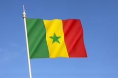 flag Сенегал Стоковые Изображения RF