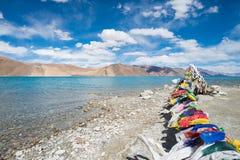 flag тибетец молитве Стоковые Изображения RF