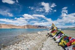 flag тибетец молитве Стоковое Изображение