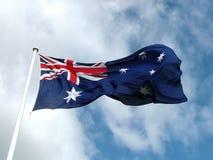 Flag. Australian flag flying high stock photos