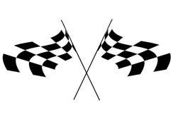 Flag. Illustration of sports rally race flag Stock Image