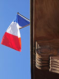 Flag. French flag on a fassade Stock Image