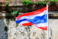 Flag. Beautiful Flag of Thailand and old background Royalty Free Stock Images