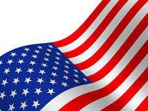 Flag. The USA. isolated object Stock Photography