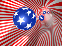 Flag. The USA. 3d object royalty free stock images