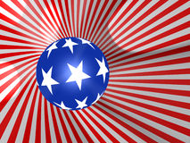 Flag. The USA. 3d objects stock illustration