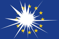 The Flag. The symbolic image of the flag of the European Union in crisis Stock Photography