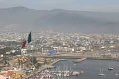 Flag. This is ensenada, baja california, mexico royalty free stock photos