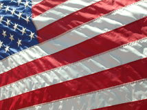Flag. United States of America flag waving in the wind royalty free stock photography