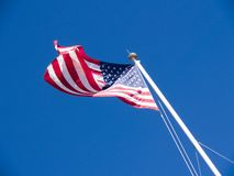 Flag. American flag on a sunny day Royalty Free Stock Photos