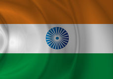 Flag. Old glory India flag saturated Stock Images