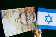 Flag. Money and flag of Israel royalty free stock images