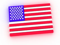 Flag. United state of america 3d render Vector Illustration