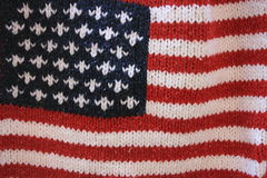 Flag. USA flag knitted on a sweater royalty free stock photos