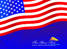 Flag. On the blue background Royalty Free Stock Photography