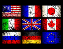 Flag. This illustration can be used for your design Stock Images