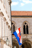 Flag. Of croatia on the city hall royalty free stock images