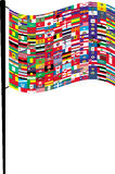 Flag. Big Flag with small flags Stock Image