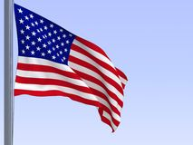 Flag. 3d rendered flag in wind, series Stock Photo