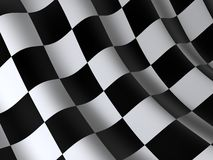 Flag. Of start or finesha, done in 3d Royalty Free Stock Photo