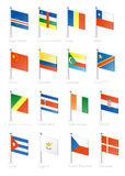 Flag. Icon set (part 3 Royalty Free Stock Images