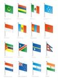 Flag. Icon set (part 8 Stock Photos