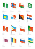 Flag. Icon set (part 9 Royalty Free Stock Photography