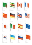 Flag. Icon set (part 13 Stock Images