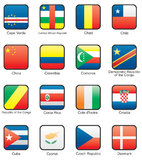 Flag. Icon set (part 3 Royalty Free Stock Photography